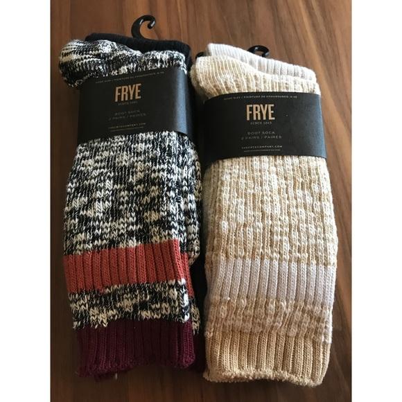 NWT Frye boot socks 94% cotton